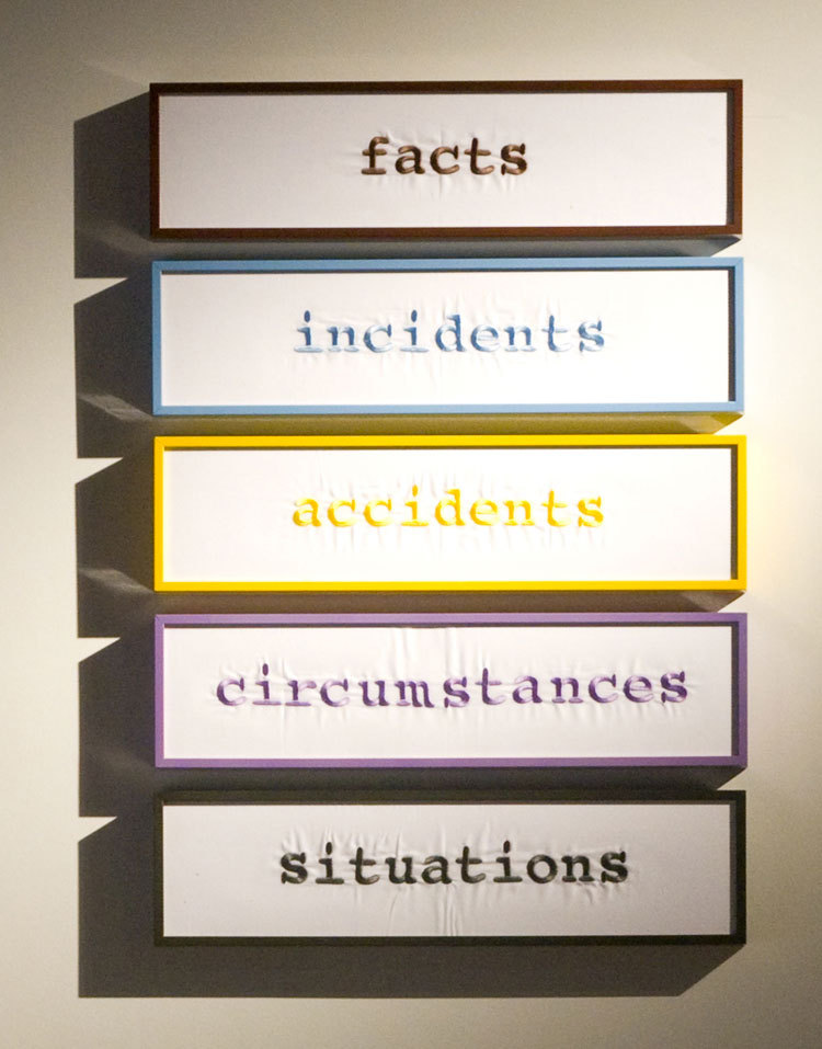 Hüseyin Bahri Alptekin Incident-s (Incident-s, Fact-s, Circumstance-s, Accident-s, Situation-s), 2007 Embroidered and framed used hotel sheets 80 x 55 x 4 cm (all)