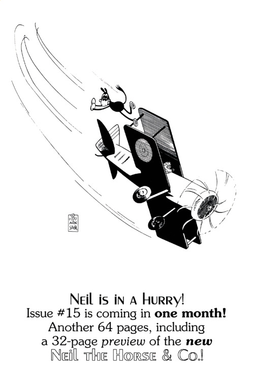 Ad for Neil the Horse #15 by Arn Saba, 1988.