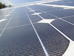 thisbigcity:  The energy that comes out of solar panels is renewable, but what about the panels themselves? Today's leading solar panels owe their high sunlight-to-electricity conversion rates to the use of rare elements, such as indium, gallium and selenium. But if current production trends continue unchecked, supplies of indium in particular will be depleted in less than a decade. The pressure is on to find a way of making solar power even more sustainable.