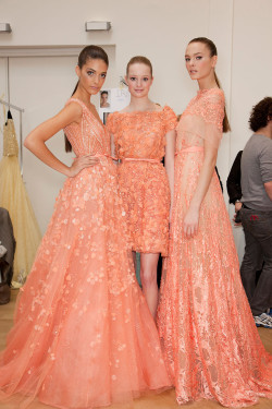 girlannachronism:  Elie Saab spring 2012 couture backstage
