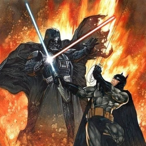 #darkside vs #darkknight .. #batman #darthvader #starwars #dc #comics
