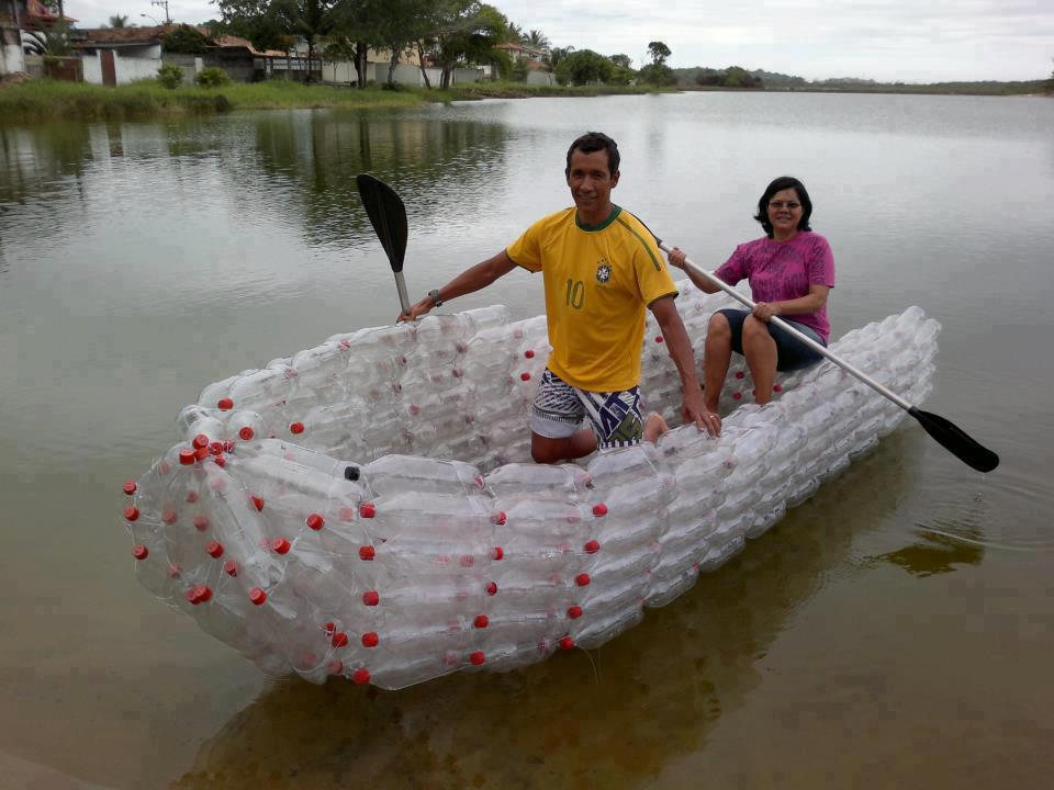 image-tits:  A boat made from soda bottles.  #1 pics blog!