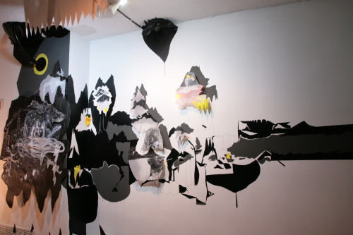 """UNFETTERED"" Installation view by Mei Mei Chang 2013"