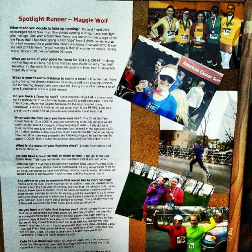 Honored to be the spotlight runner at @runningforkicks :) (at Running For Kicks)