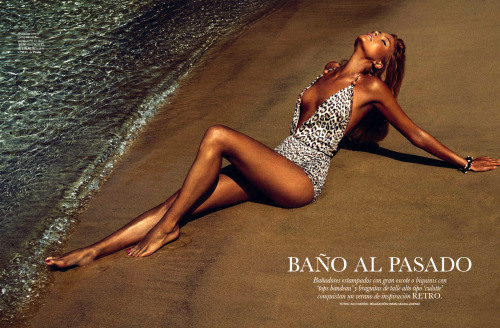 """Bano Al Pasado""Elle Spain, June 2013Model : Cristina Tosio"