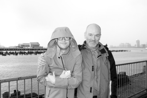 terrysdiary:  Michael Stipe and Thomas on the Piers.