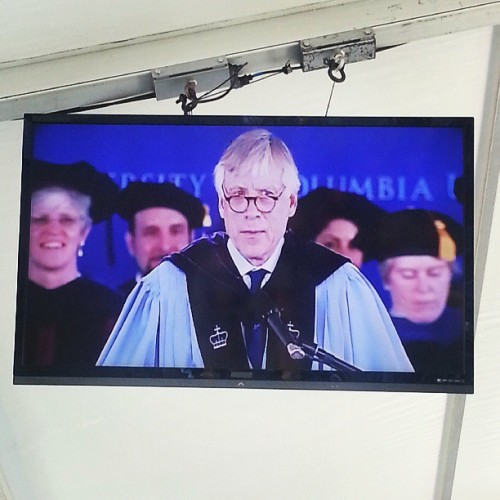 05212013 CC Class Day: The Honorable #President Bollinger // #Columbia #College #PrezBo #Graduation  (at Columbia University)