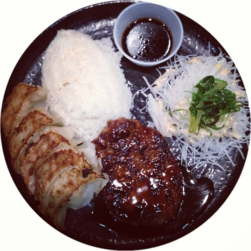 Teriyaki Hamburger Patty & Gyoza 😋 (at Mitsuwa Marketplace)