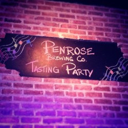 Helluva Monday night @TheHousePubSTC. Thanks for the brew, @PenroseBrewing.