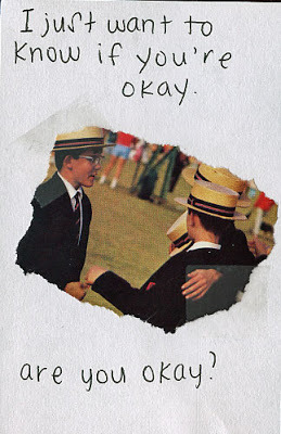 Posting this postsecret because it looks like an old friend's handwriting. And to be honest, I think it really applies to our relationship. So if by some fate of god, this is you, the answer is yes. I'm finally okay. I'm more than okay. I'm the happiest I've ever been. Thank YOU.
