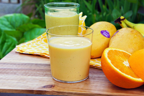 mango orange smoothie: recipe here