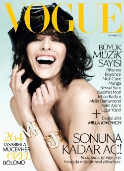 stormtrooperfashion:  Milla Jovovich covers Vogue Turkey, May 2013