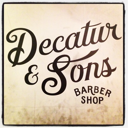 My new barbershop. Ask for René. And a shot of whisky. (at Decatur & Sons)