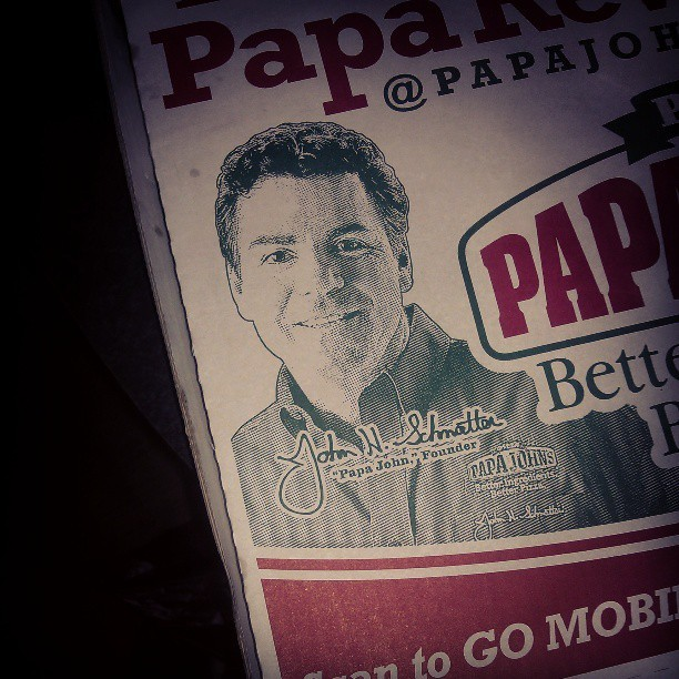 Apparently this is me when I'm older. At least I still like pizza. #PapaJohns