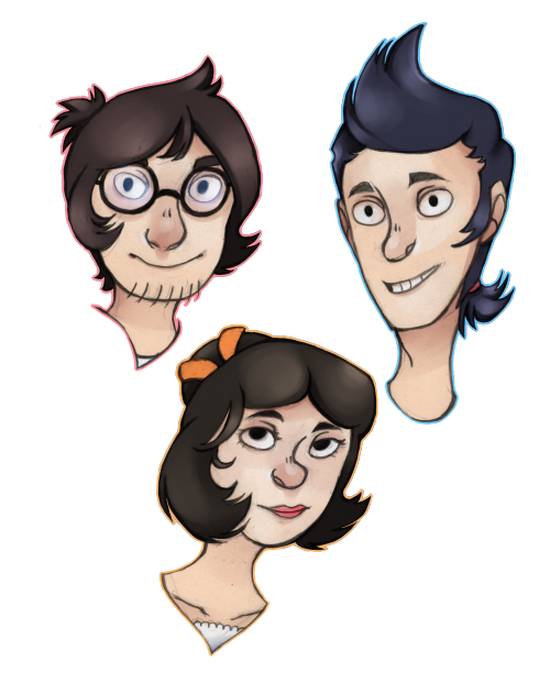 unabridgednovels:  Fanart I drew of some characters from SAKANA a comic by mynameismad. :D  oh my god they're so cute wow holy dang