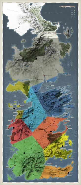 "thelandofmaps:  Game of Thrones' Westeros according to the closest ""state capital"" [600x1363] [OC]CLICK HERE FOR MORE MAPS!thelandofmaps.tumblr.com"
