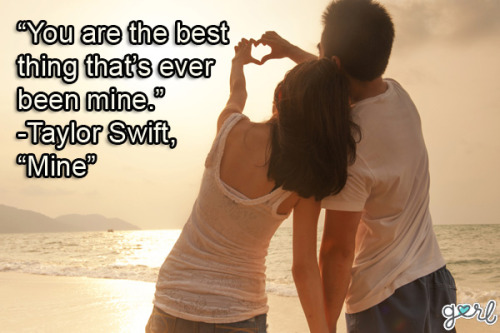Get ready for Valentine's Day tomorrow with 10 Of The Best Love Song Quotes Right Now!  Photo source: Shutterstock.com
