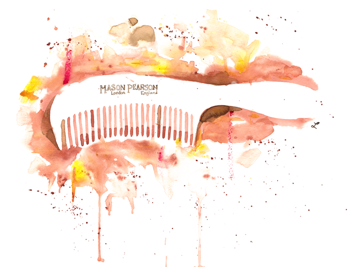 Mason Pearson | London England Beauty Product Illustration for Lillie Magazine  an eco-chic fashion beauty & lifestyle magazine www.lily-qian.com