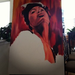 Still rock this Erykah Badu #erykah #art #oilpainting #wip #workinprogress #erykahbadu #painting
