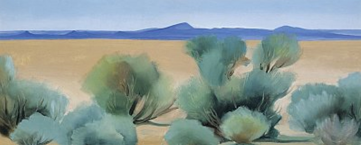 Georgia O'Keeffe Taos, New Mexico Oil on canvas, 10 x 24 inches