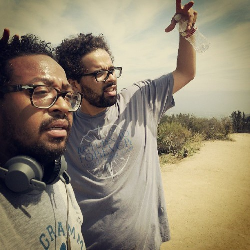 Top with my famz @chrisclarke133 (at top of runyon canyon)