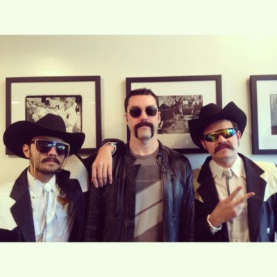 #stacheweek! @losmasterplus stopped by (at Frank's Chop Shop)