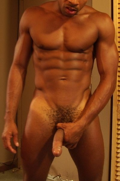 Muscular black man with a stiff cock. See Live Nude Black Men Jerking Off Here