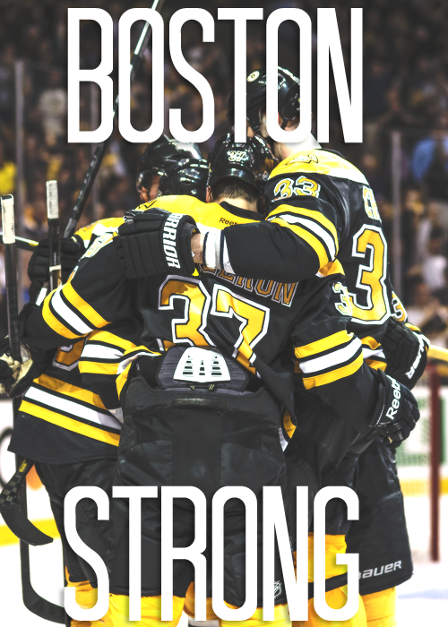 boston bruins playoff slogan + boston strong