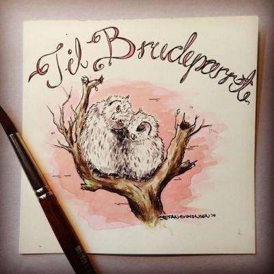 Postcard for a wedding. #bryllup #postkort #wedding #owls #illustration #drawing