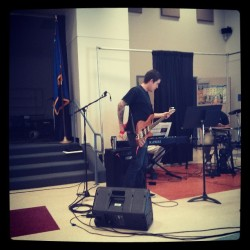 @chrismaresh about to shred on some worship music.