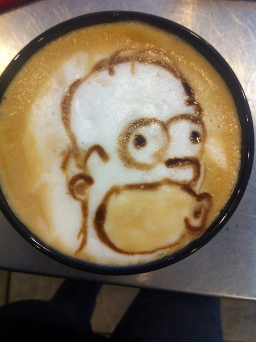 coffee-katie:  Homer Simpson Latte