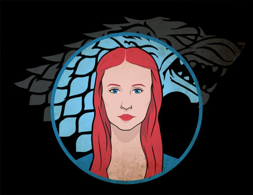 Sansa I'm in that GoT mood since season 3 began. I wanted to do a Sansa Stark portrait but I ended up making look older, I think.