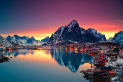 Village of Reine in Lofoten, Norway. Photo by Christian Bothner. Source.