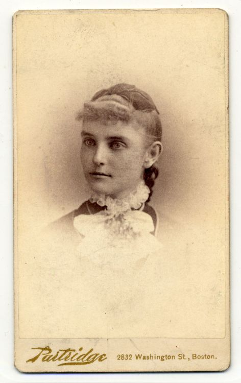 Helen A. Thomas, circa 1880, Roxbury High School photographs, (Collection #403.003) City of Boston Archives  This work is free of known copyright restrictions.  Please attribute to City of Boston Archives. For more images from this collection, click here