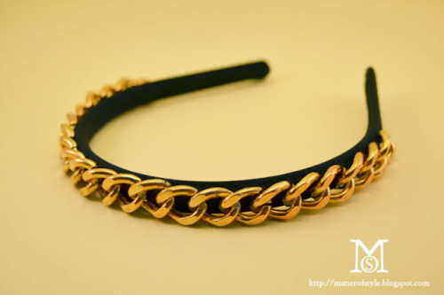 truebluemeandyou:  DIY Chunky Chain Headband Tutorial from A Matter of Style here. For more DIY Headbands go here: truebluemeandyou.tumblr.com/tagged/headband and for more head pieces go here: truebluemeandyou.tumblr.com/tagged/headband