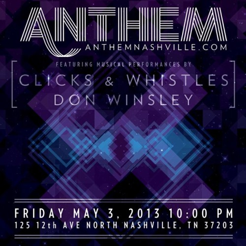 After the party, it's the after party! @anthemnashville is bringing you another sexy installment of #FridayNightAnthem w @clicksxwhistles @donwinsley & @simplykeno you never know who might show up. ;) If you didn't attend last week, here's a taste of what you missed: http://vimeo.com/64973126 (at Anthem)
