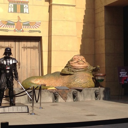 Jabba at the Egyptian for ROTJ 30th Anniversary screening.