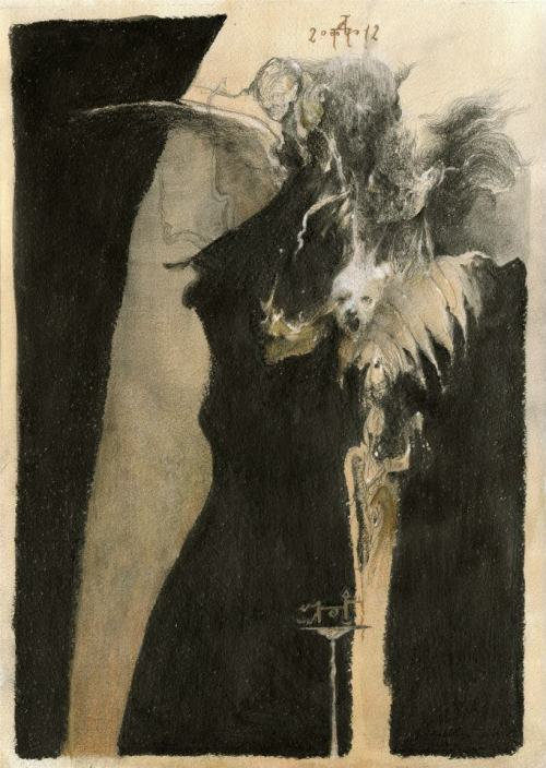 seradoa:  Denis Forkas Kostromitin Ghosts (First composition study for Jack the Ripper/The Invisible Man). 2012