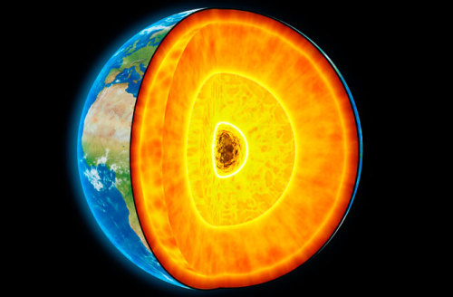 "scinerds:  Earth's Rotating Inner Core Shifts Its Speed  Earth's solid-metal inner core is a key component of the planet, helping to give rise to the magnetic field that protects us from harmful space radiation, but its remoteness from the planet's surface means that there is much we don't know about what goes on down there. But some secrets of the inner core are being revealed by acoustic waves passing through the planet's heart and iron squeezed to enormous pressures in the lab. Two new studies, both detailed online May 12 in the journal Nature Geoscience, reveal that Earth's inner core may actually be softer than previously thought, and that the speed at which it spins can fluctuate over time. Under the liquid-metal outer layer of the Earth's core is a solid ball of superhot iron and nickel alloy about 760 miles (1,220 kilometers) in diameter. Scientists recently discovered the inner core is, at 10,800 degrees Fahrenheit (6,000 degrees Celsius), as hot as the surface of the sun. Churning in the liquid outer core results in the dynamo that generates Earth's magnetic field. Geoscientists think interactions between the inner and outer cores may help explain the nature of the planet's dynamo, the details of which remain largely unknown. ""The Earth's inner core is the most remote part of our planet, and so there is a lot we don't know about it because we can't go down and collect samples,"" said Arianna Gleason, a geoscientist at Stanford University in California.   Full Article"