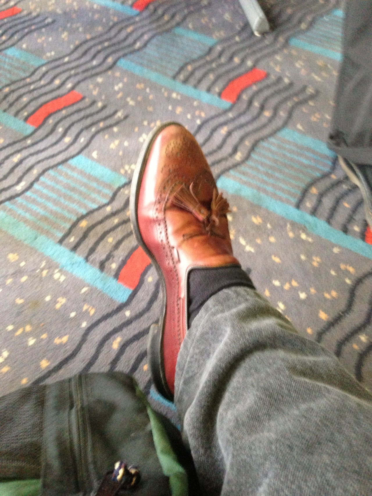 Wore these slipons during airport security. Waltzed on my way while others stuck relaxing shoes. Me = travel l33tist.