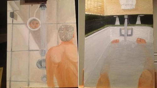 thedailywhat:  Hack of the Day: George W. Bush's Self-Portraits Leaked  this is so sad :(