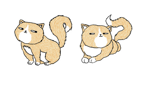 Fat cats coloured with a Wacom in photoshop. Thoughts?