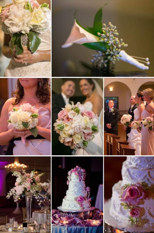 Beautiful images from a recent wedding. Creamy soft tones of pink and white roses, calla lilies, fragrant peonies, tulips, ranunculus, and hydreangea throughout. Images by Scott Trippler Photography