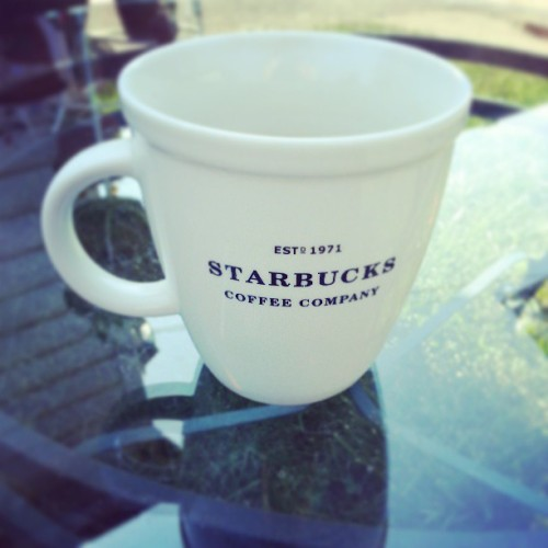 a little afternoon coffee.  yumm #coffeelove #starbucks #mug #summertime