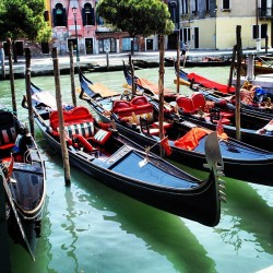 Memories until I return! #Venice #Italy #Gondolas #canals