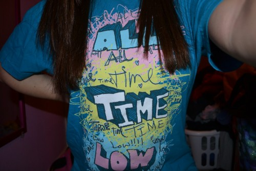 I got an All Time Low shirt for christmas :)