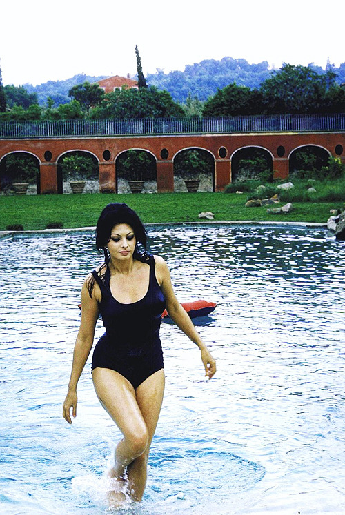 Sophia Loren at home in her Italian Villa, 1964