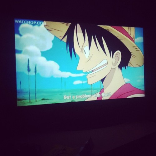 Staying up to watch loads of One Piece episodes :)