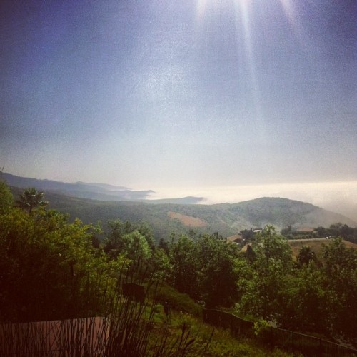 My life above the clouds. #malibu (at Maison du Soleil)