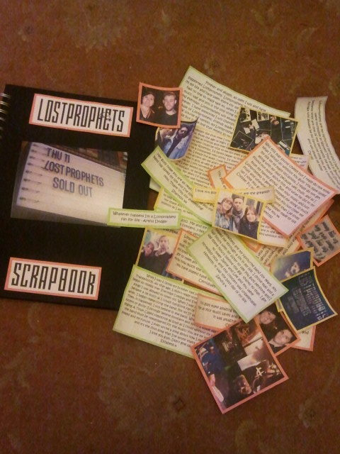 m4noverb0ard:  So anyone who's involved in the Lostprophets scrapbook, just thought you'd want to see how it's going so far Obviously it's a bit of a mess right now and that's not even half of the contributions for it, but i'll be getting back to it very soon  Keep getting involved guys x